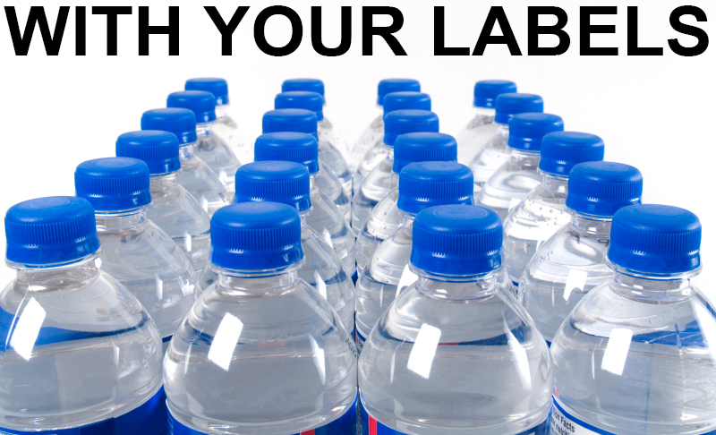 Shrink Wrapping bottled water, Bottled Water with your label
