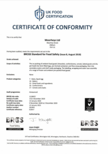 Moorheys BRC Cert Jan 2020